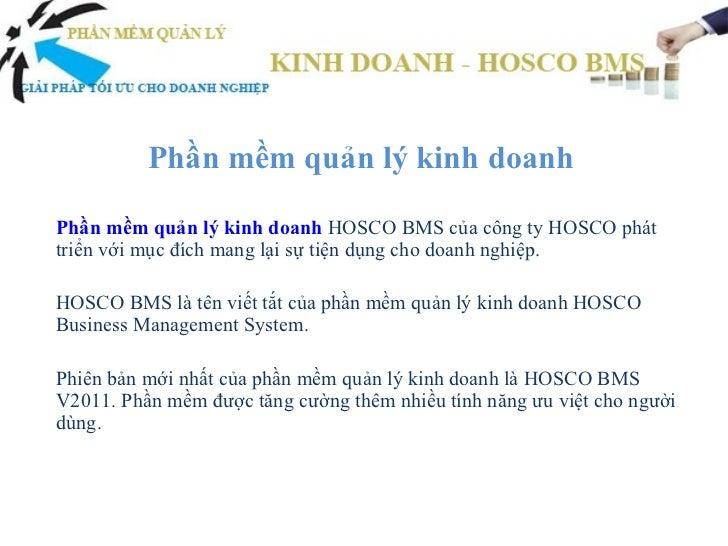 Phần mềm quản lý kinh doanh
