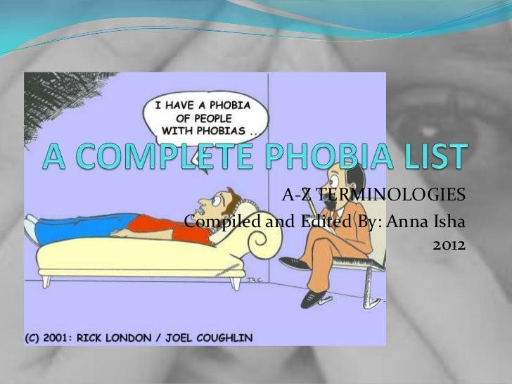 Phobia listsh