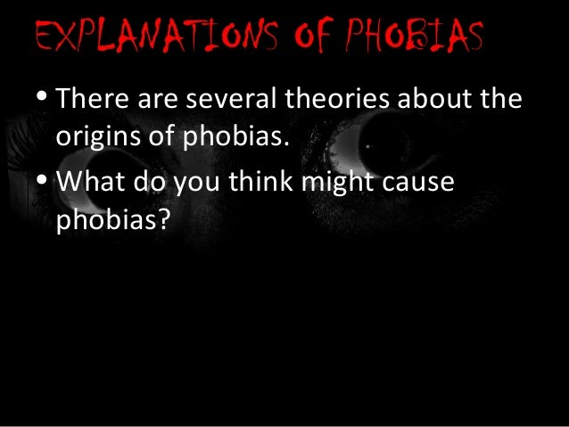 preparedness theory of phobia acquisition Biological explanation of phobias   ancient fears and modern minds prepotency preparedness  this explains anomalous data such as the acquisition.