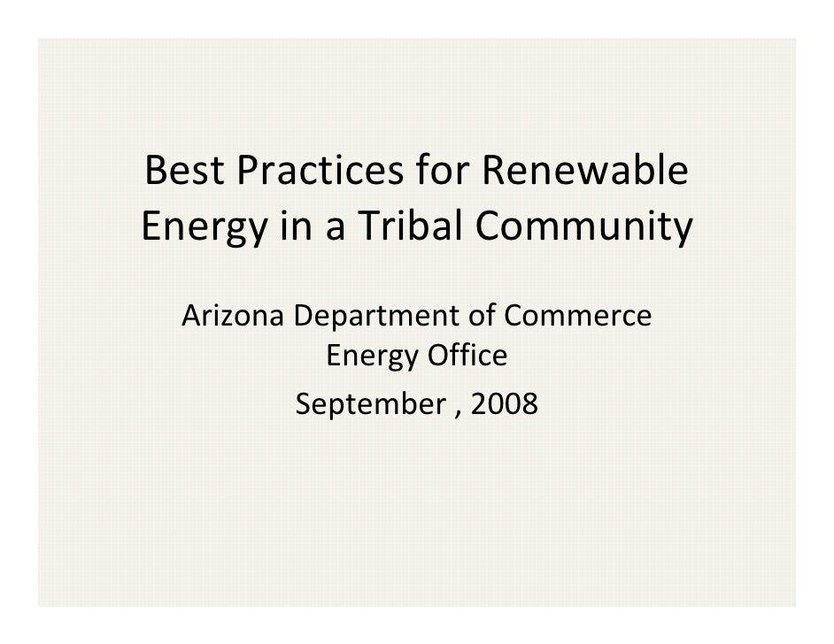Phoenix   Az Dept Of Commerce Rural Renewable Presentations