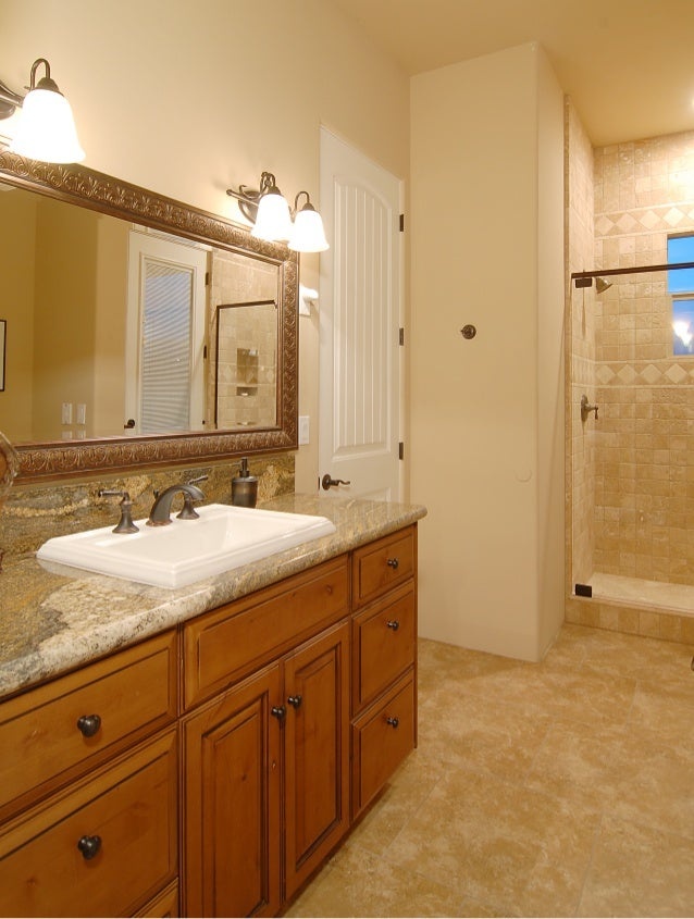 Phoenix custom bathroom remodel with granite countertops for Bath remodel phoenix