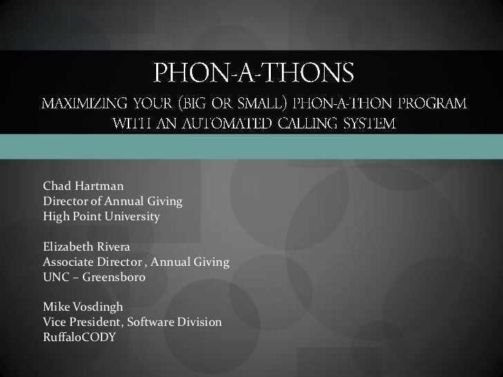 CASE III/IV Phonathon Presentation