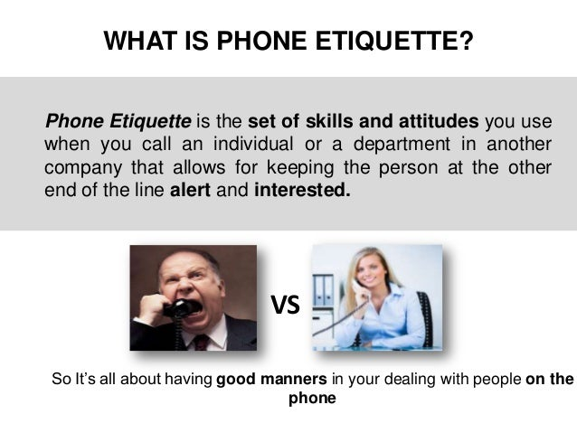 Image Gallery office phone etiquette