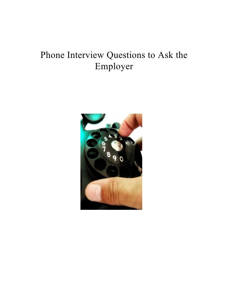 To Ask On Phone Interview