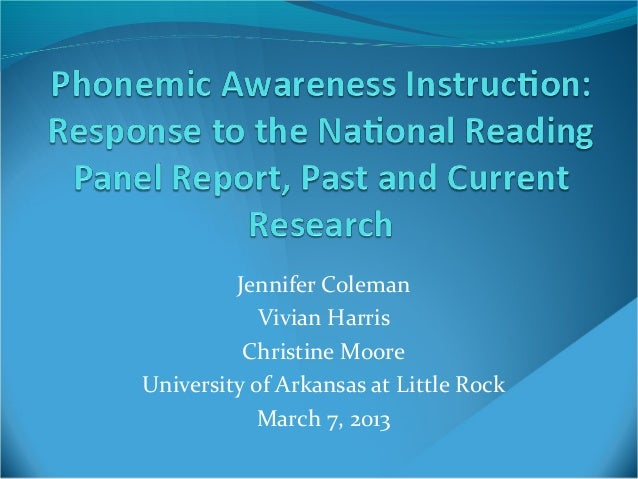 Jennifer Coleman            Vivian Harris          Christine MooreUniversity of Arkansas at Little Rock            March 7...