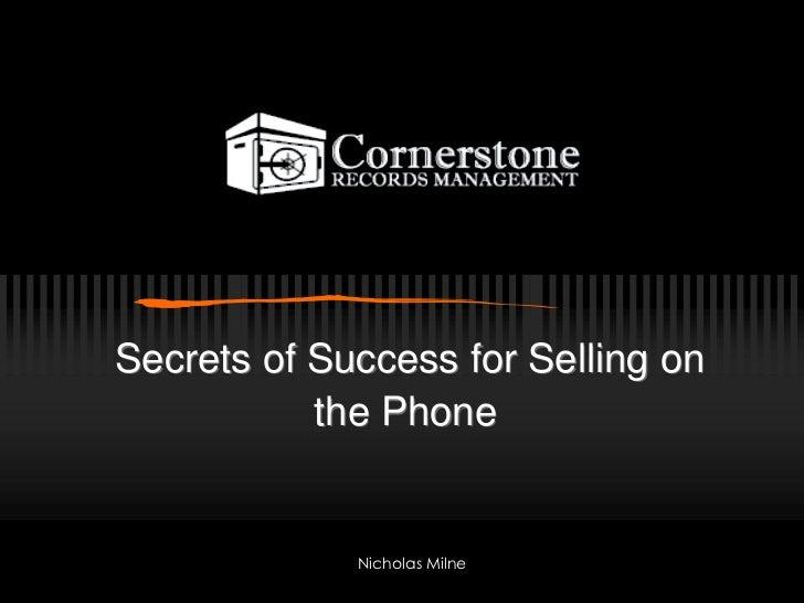 Phonesales101 Cornerstone