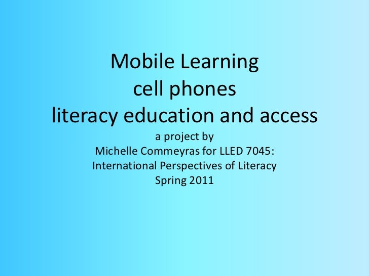 Phones for literacy all