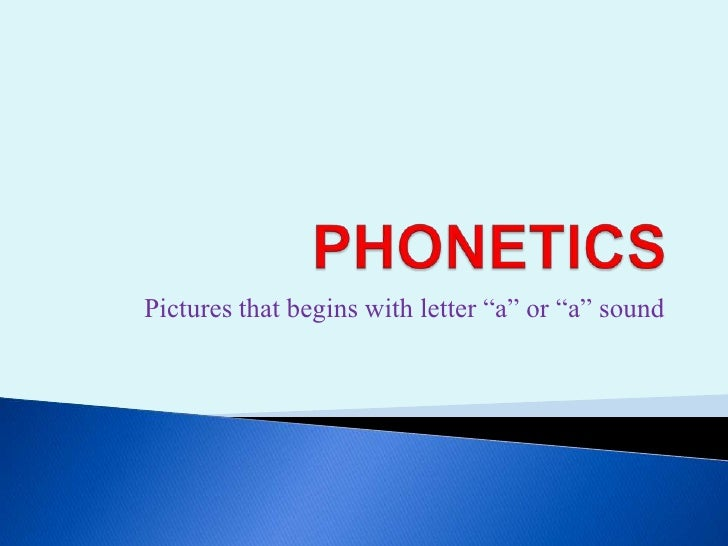 Phonetics for beginners