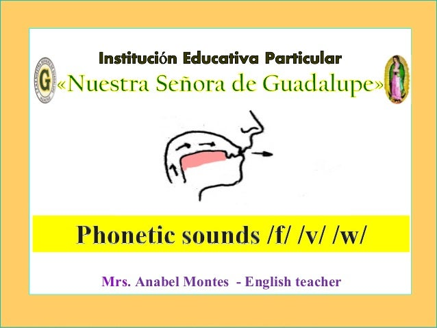 Phonetic sounds (v)