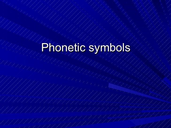 Phoneticsymbols group2