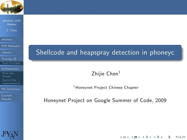 phoneyc with    libemu     Z. Chen  phoneyc  WB Malware         .                                                         ...