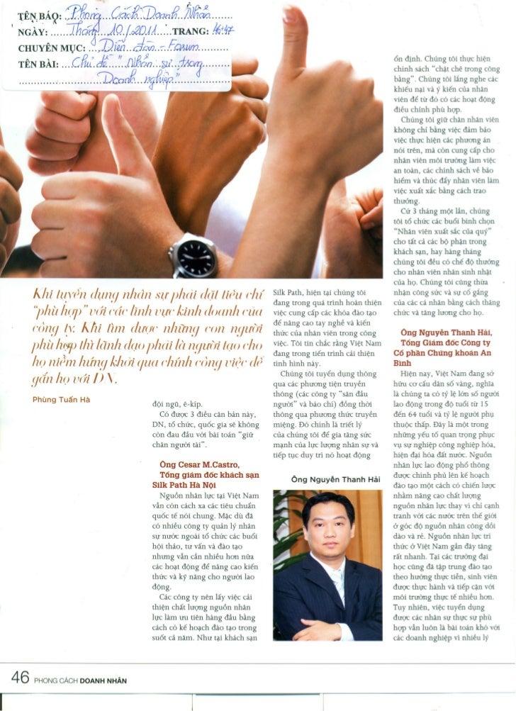 Media talks: Silk Path Hotel on Business Style magazine Oct2011