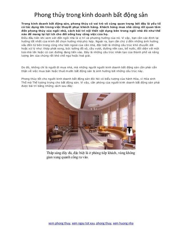 Phong thủy trong kinh doanh bất động sản xem phong thuy, xem ngay tot xau, phong thuy, xem huong nha Trong kinh doanh bất ...