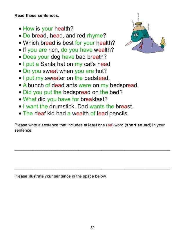 Sentences With Rhyming Words For Kids. Rupsucks Printables ...