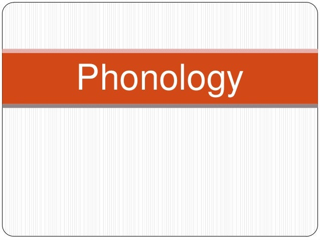 Phonology Introduction