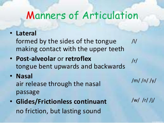manner of articulation and point of It's excellent for showing language learners points of articulation, or if you are linguist struggling with ipa or slight differences.