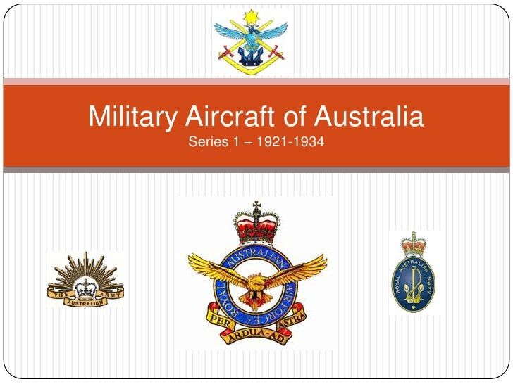 Military Aircraft of AustraliaSeries 1 – 1921-1934<br />