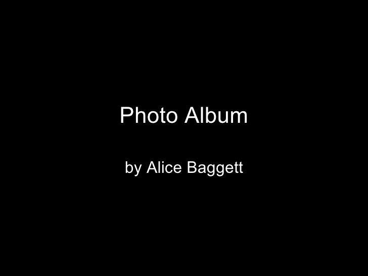 Photo Album By Alice