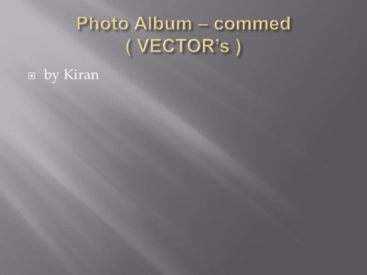 Photo album – commed                      ( vector's )
