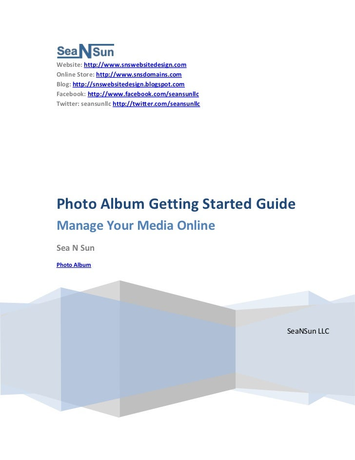 Photo Album Getting Started Guide