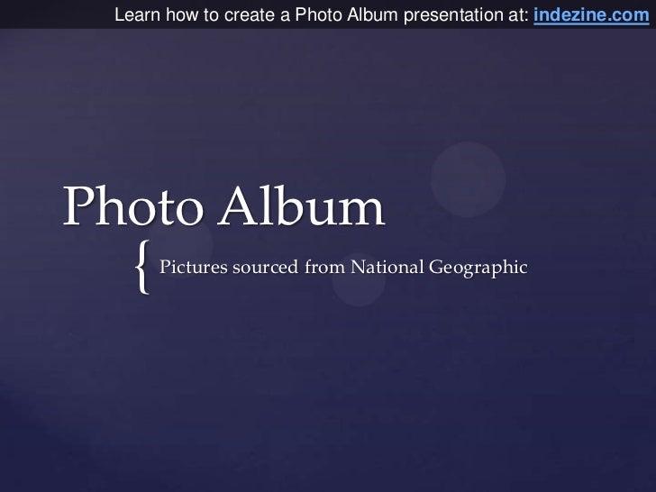 Photo Album Presentaion in PowerPoint