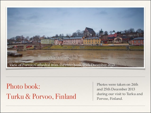 View of Porvoo Cathedral from the river bank, 25th December 2013  Photo book: Turku & Porvoo, Finland  Photos were taken o...