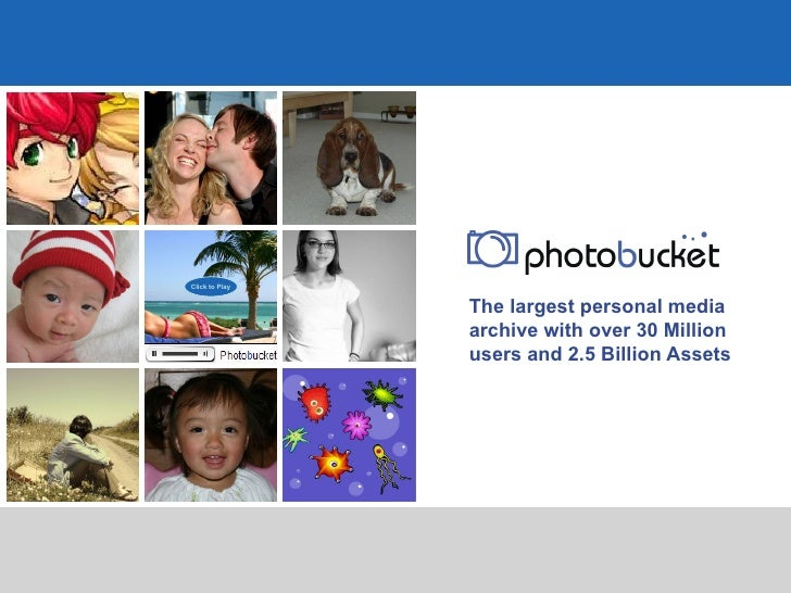 The largest personal media archive with over 30 Million users and 2.5 Billion Assets