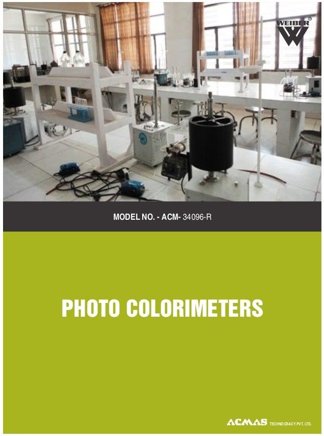 R TECHNOCRACY PVT. LTD. MODEL NO. - ACM- 34096-R PHOTO COLORIMETERS