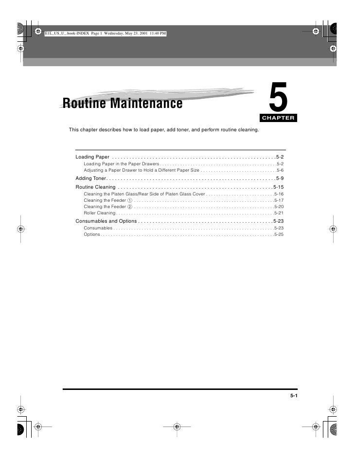 Photocopier Routine Maintenance