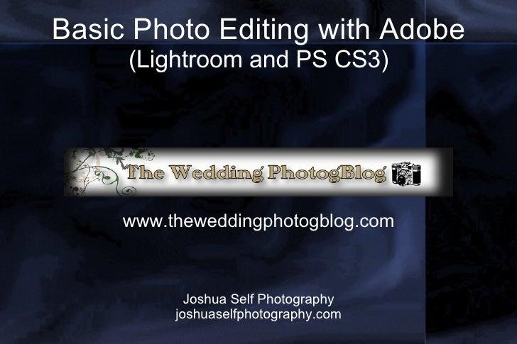 Photo Editing Slideshow
