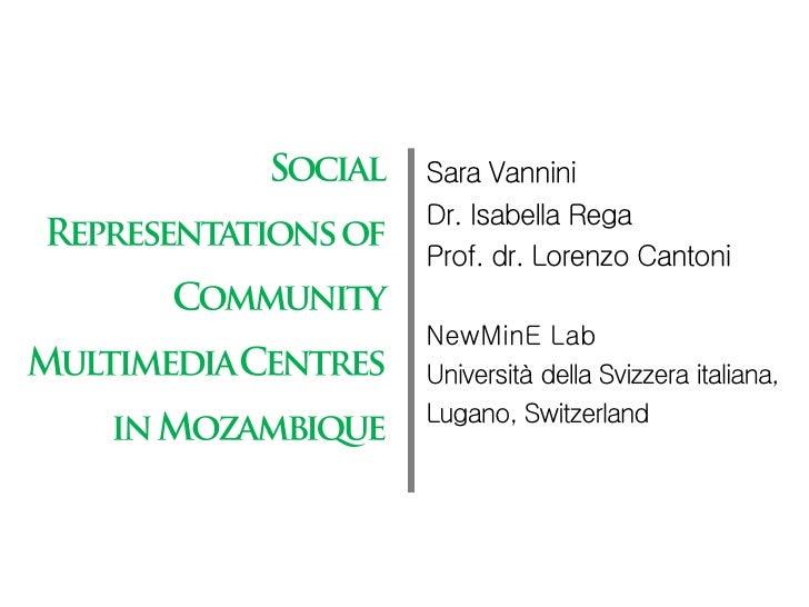 Sara VanniniDr. Isabella RegaProf. dr. Lorenzo CantoniNewMinE LabUniversità della Svizzera italiana,Lugano, Switzerland