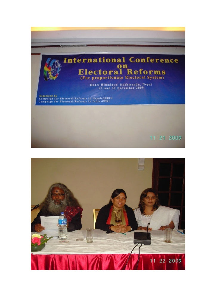 2nd International Conference on Electoral Reforms in Nepal
