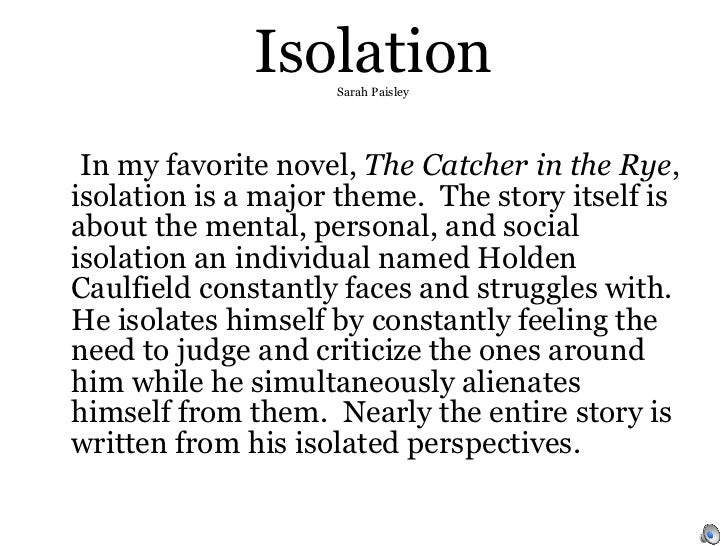 Isolation essay