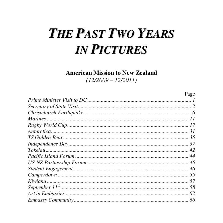 THE PAST TWO YEARS                  IN PICTURES                          American Mission to New Zealand                  ...