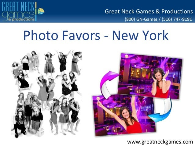 (800) GN-Games / (516) 747-9191 www.greatneckgames.com Great Neck Games & Productions Photo Favors - New York