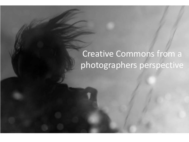 Creative Commons from a photographers perspective
