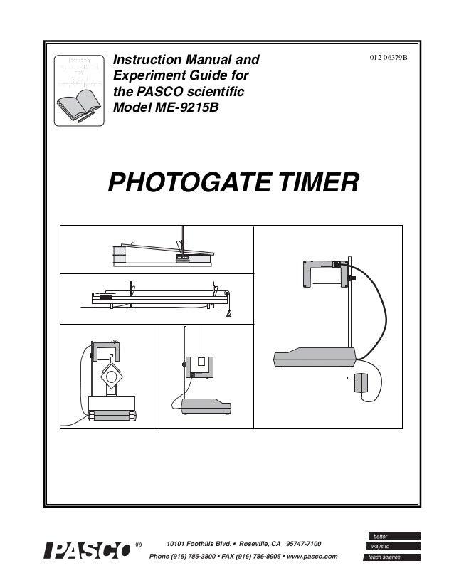 Photogate timer-manual-me-9215 b