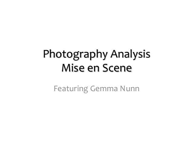How to write a mise-en-scene scene essay