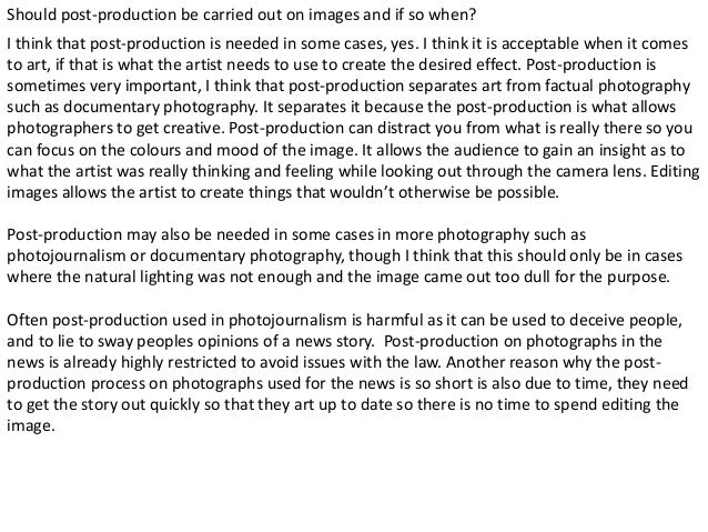 Photography Extension Task