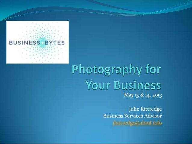 Photography for Your Business