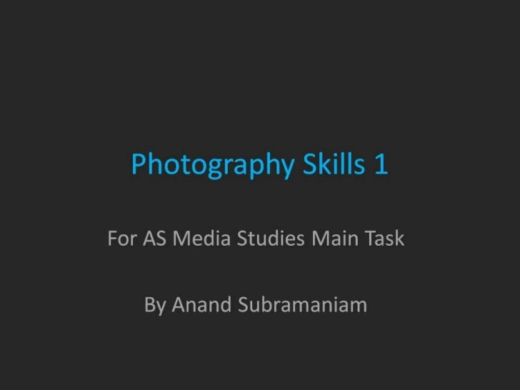 Photography skills 1