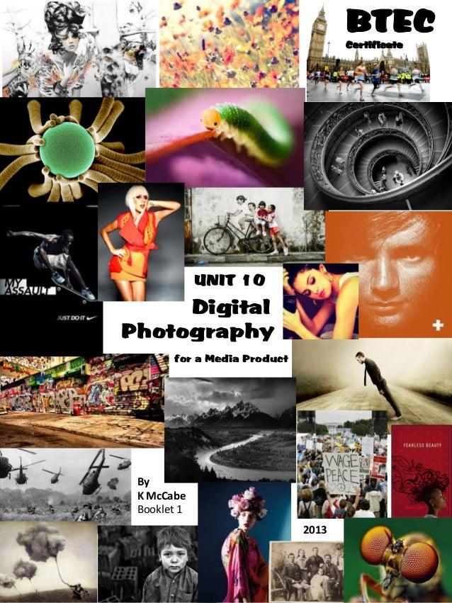 BTEC Level 2 Creative Digital Media Production: Photography Booklet