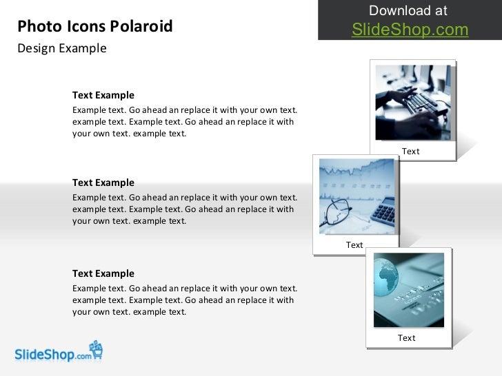 Photo icons polaroid