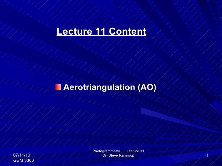 Photogrammetry - areaotriangulation