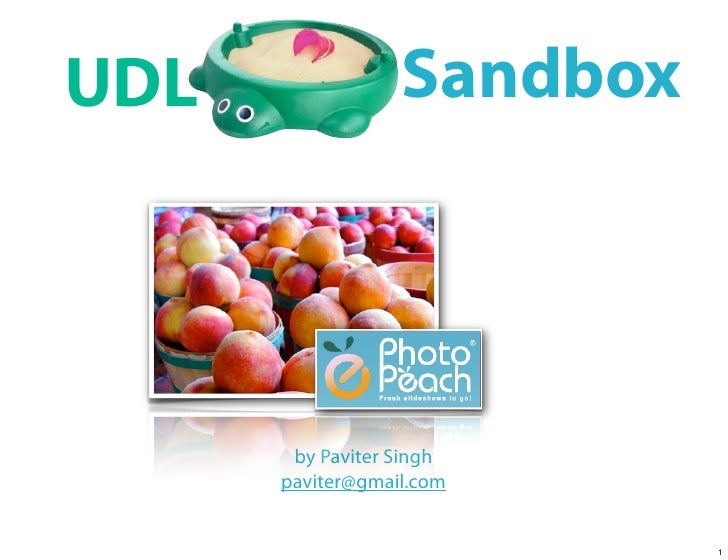 Photo Peach Sandbox