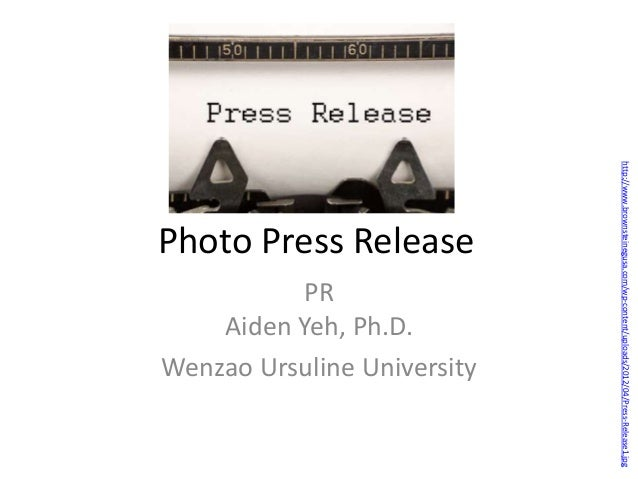 Photo press release with task