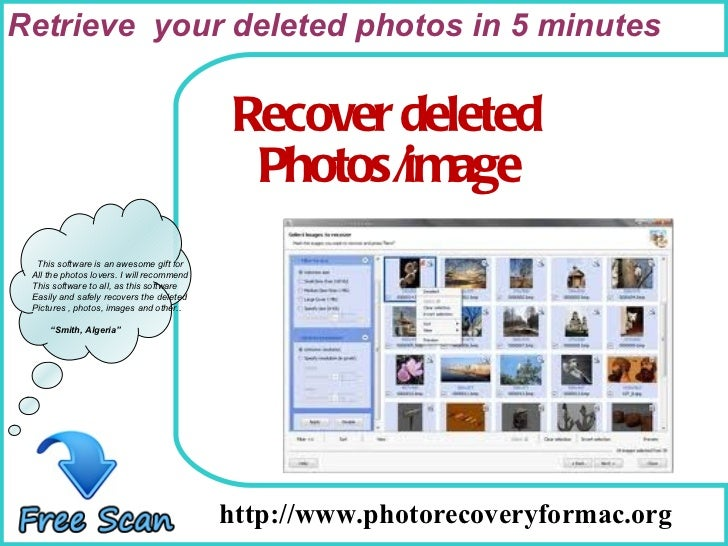 Best solution to recover all deleted or lost photos on mac.