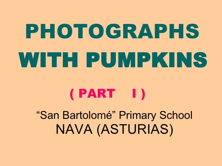 Photos With Pumpkins I