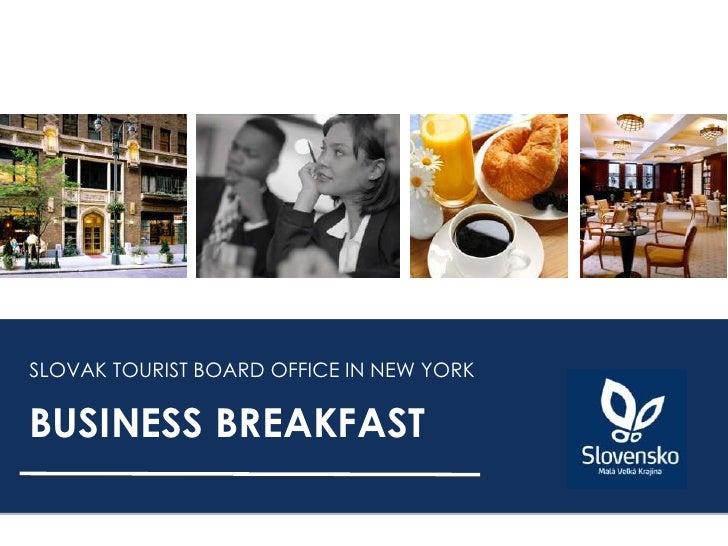 Slovak Tourist Board - Business Breakfast