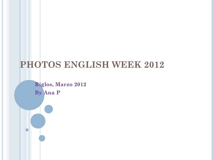 Photos english week 2012a